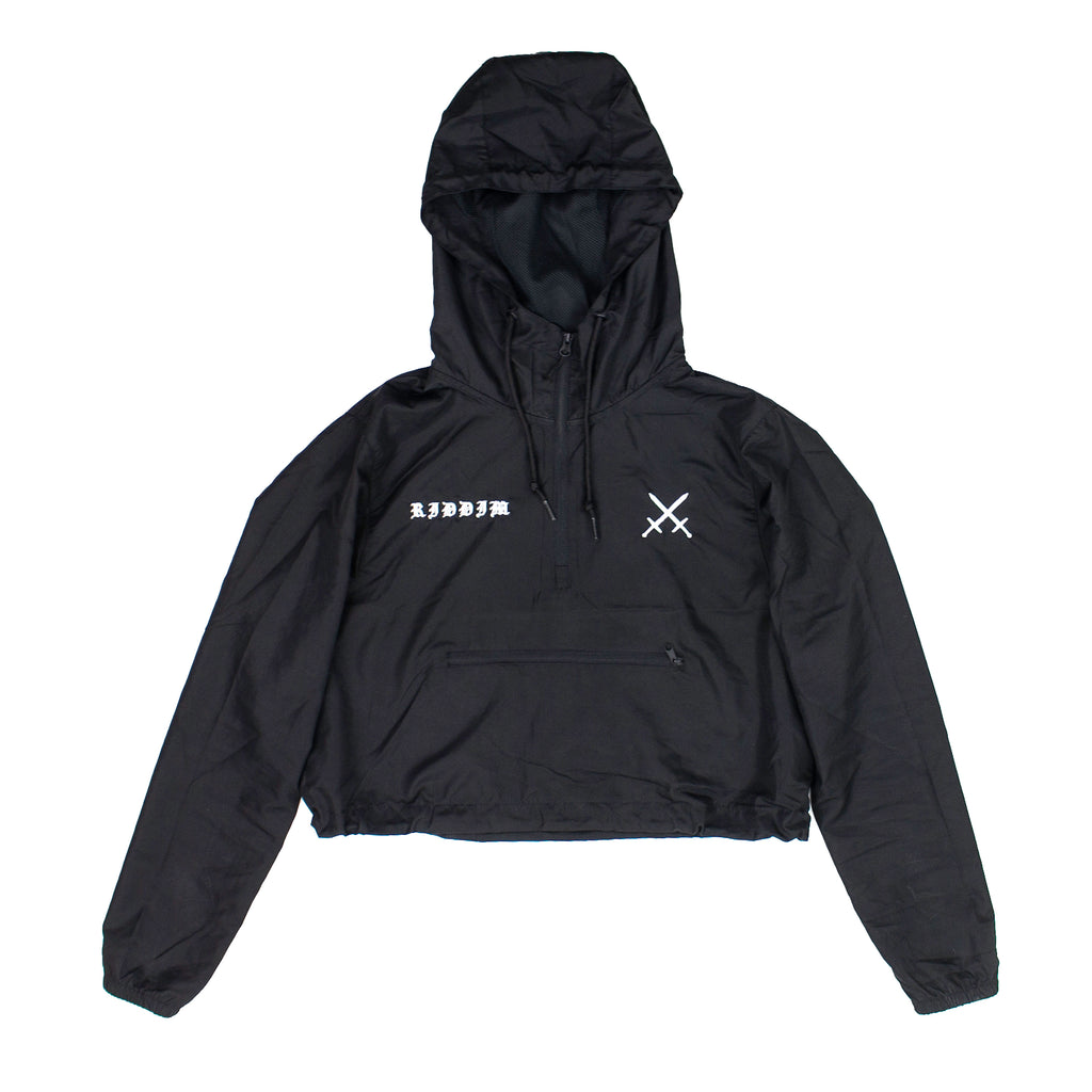 BLVCK Cropped Hooded Windbreaker