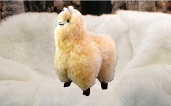 Wow, So Soft! Alpaca Plush Toy Standing or Sitting - Handmade - 100% Baby Alpaca Fur From Peru.