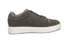 Grey Holly Sheepskin Sneaker by CLOUD NINE / RJS - Shoe Size Women 5-6-7-8-9-10-11