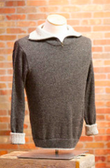 Men's Alpaca Sweater With Zip