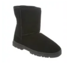 "8"" Black Sheepskin Boot by CLOUD NINE / RJS - Shoe Size Men 7-8-9-10-11-12-13-14-15"