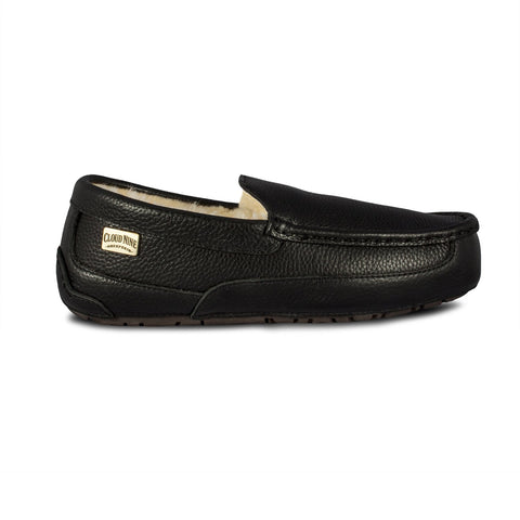 MEN JACKSON BLACK LEATHER MOCCASINS