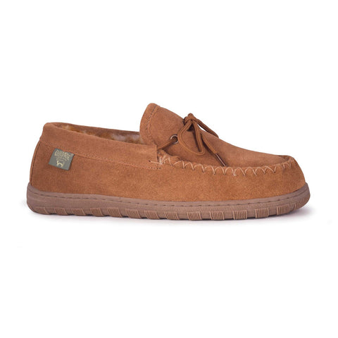 "***WW*** ""WIDE"" MEN NW MOCCASINS CHESTNUT"