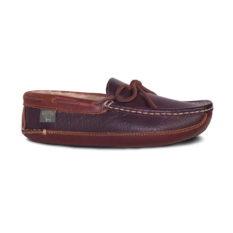 Chocolate Driving Moccasin Sheepskin Slipper by CLOUD NINE / RJS Shoe Size Men 7-8-9-10-11-12-13-14