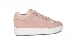 Pink Holly Sheepskin Sneaker by CLOUD NINE / RJS - Shoe Size Women 5-6-7-8-9-10-11