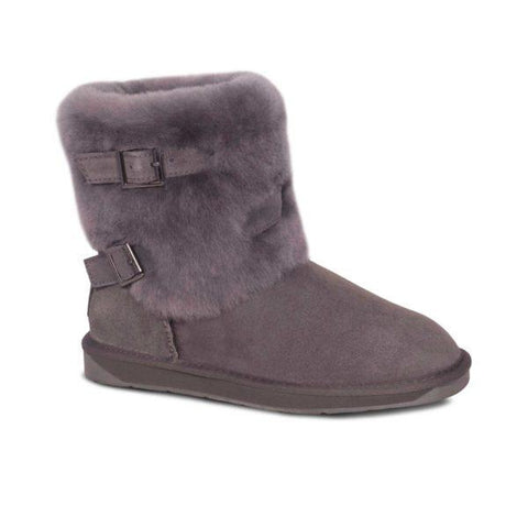 LADY TWO BUCKLE BOOTs GREY