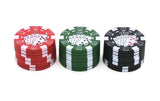 3 Layers Poker Chip Tobacco Grinder