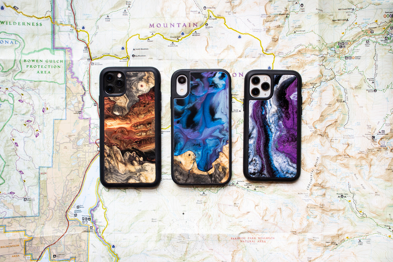 iPhone X Wood Resin Phone Cases