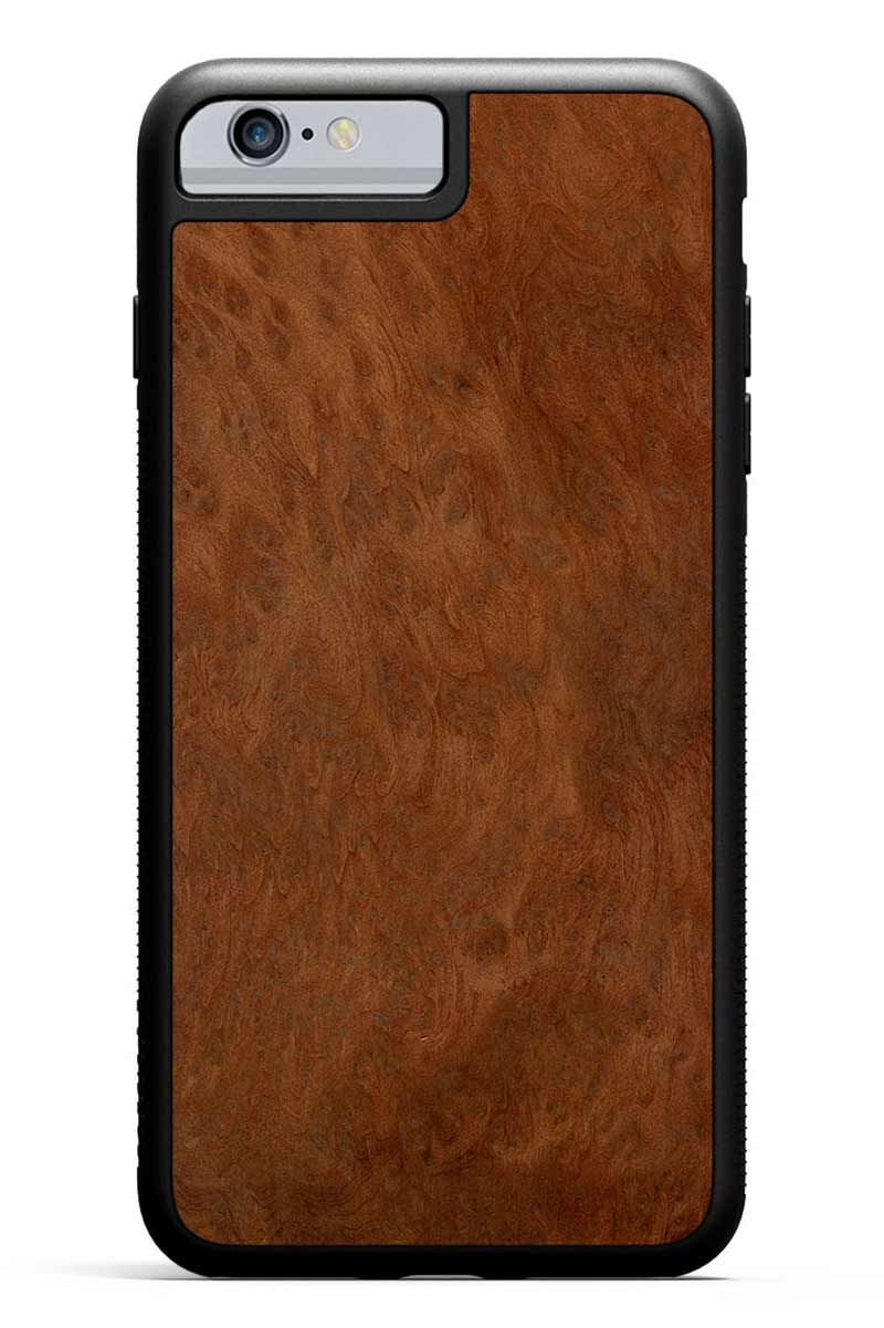 iPhone 6s Plus - Redwood Burl - Black Traveler Protective Wood Case