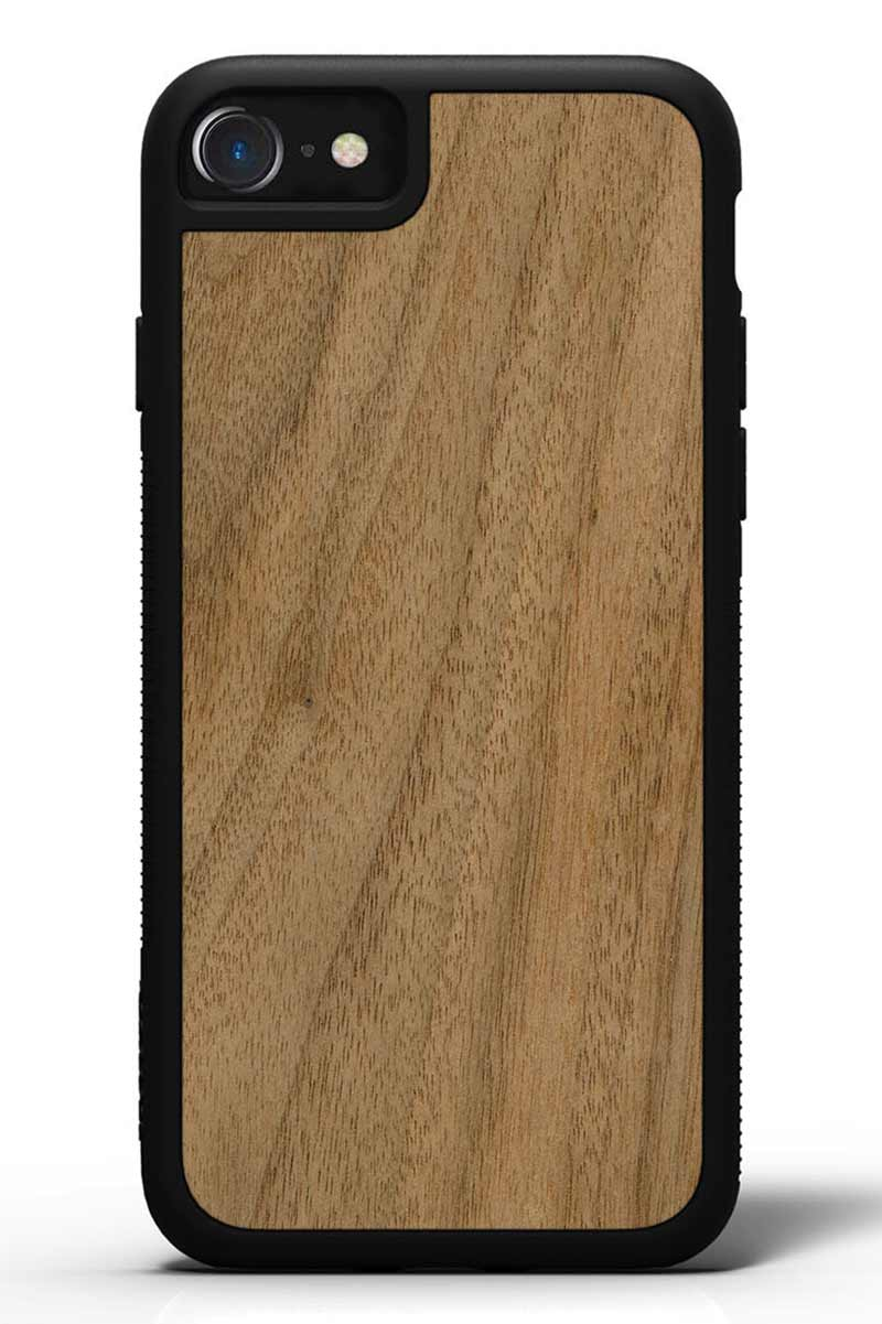 iPhone 7 - Walnut - Black Traveler Protective Wood Case