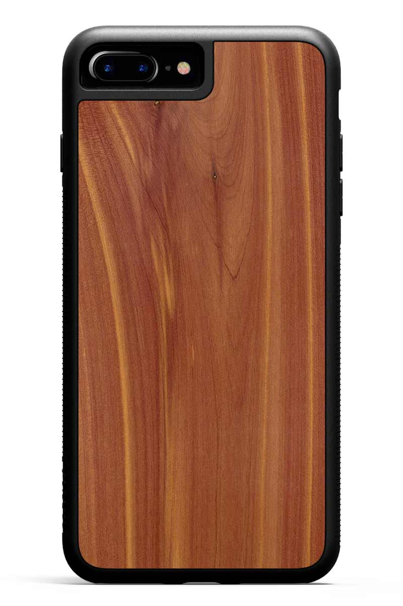 iPhone 7 Plus - Eastern Red Cedar - Black Traveler Protective Wood Case