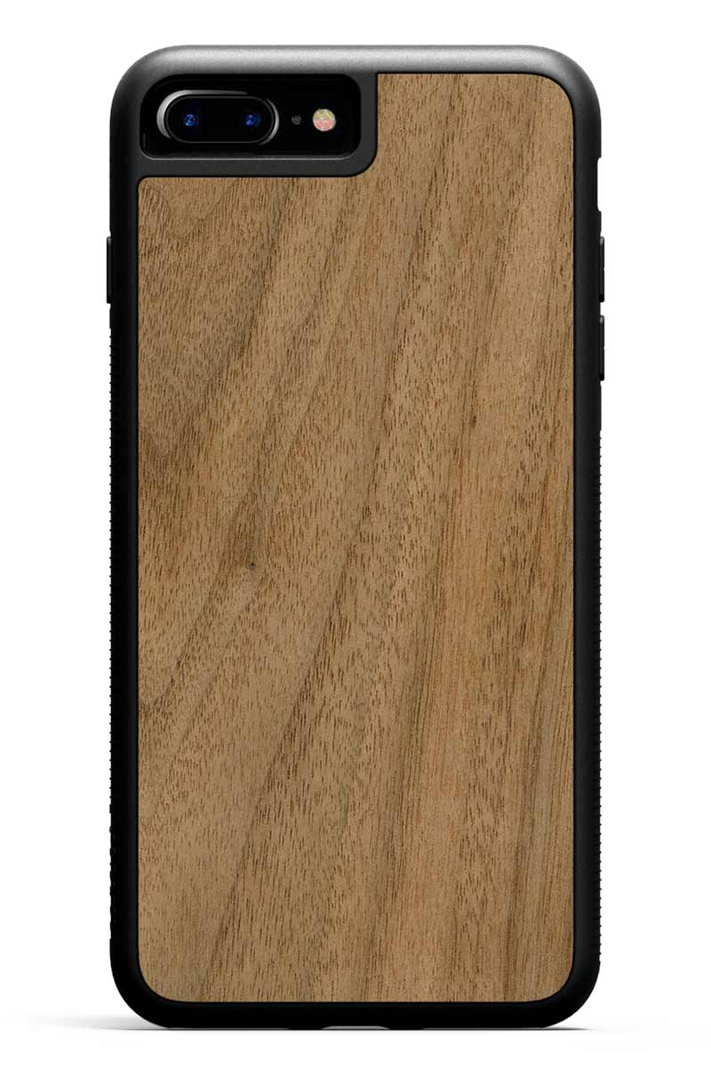 iPhone 7 Plus - Walnut - Black Traveler Protective Wood Case