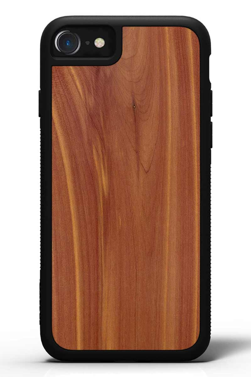 iPhone 8 - Eastern Red Cedar - Black Traveler Protective Wood Case