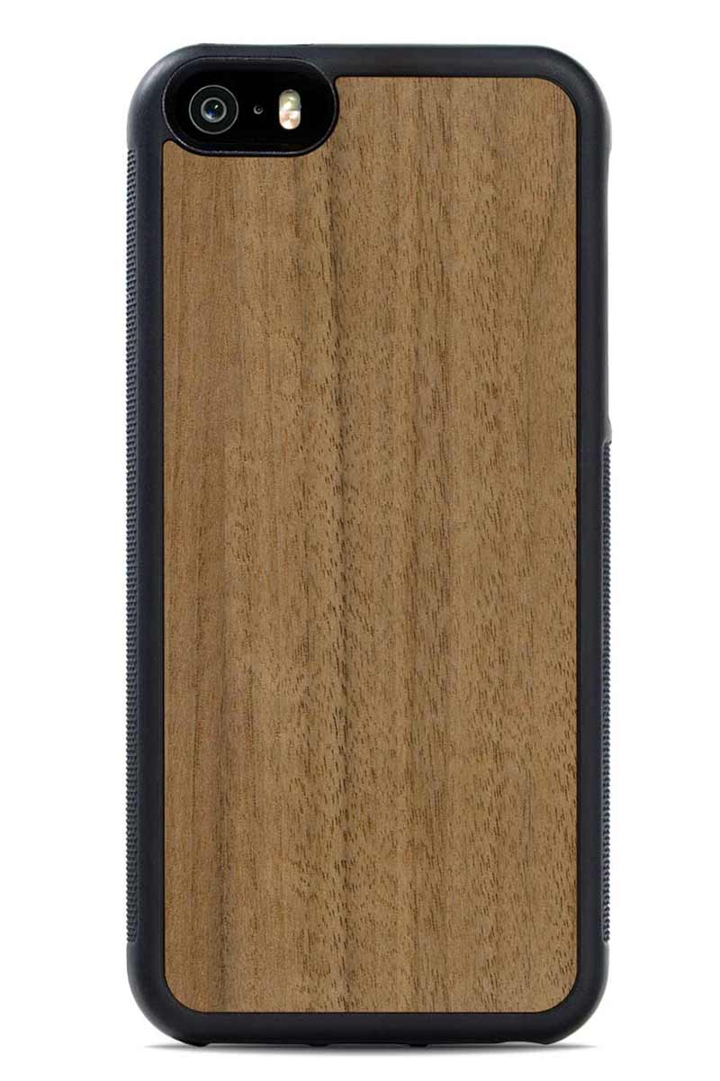 iPhone SE - Walnut - Black Traveler Protective Wood Case