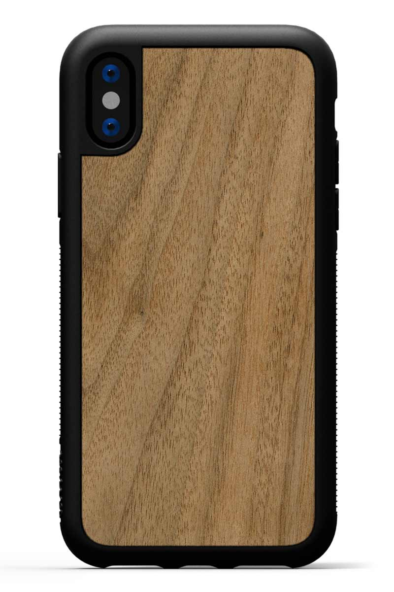 iPhone X - Walnut - Black Traveler Protective Wood Case