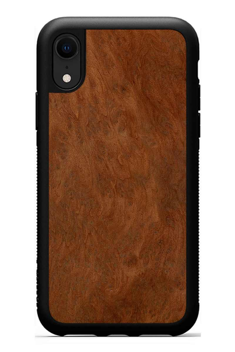 iPhone XR - Redwood Burl - Black Traveler Protective Wood Case