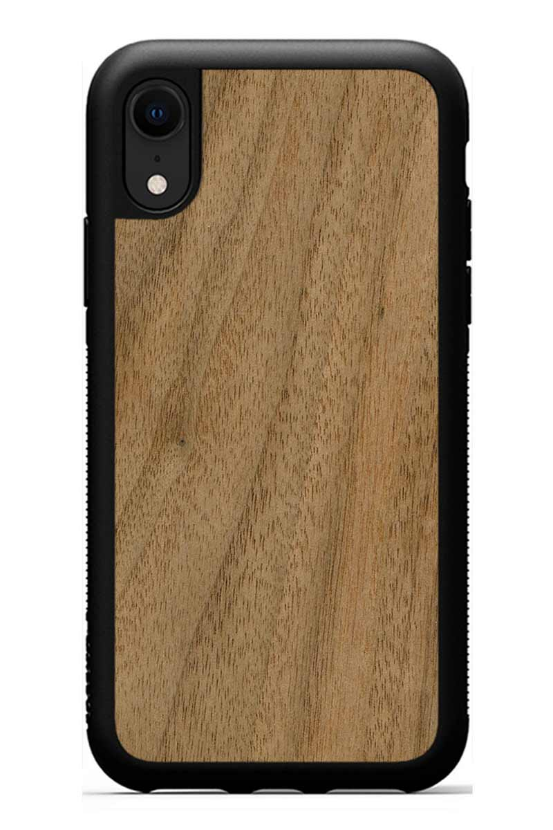 iPhone XR - Walnut - Black Traveler Protective Wood Case