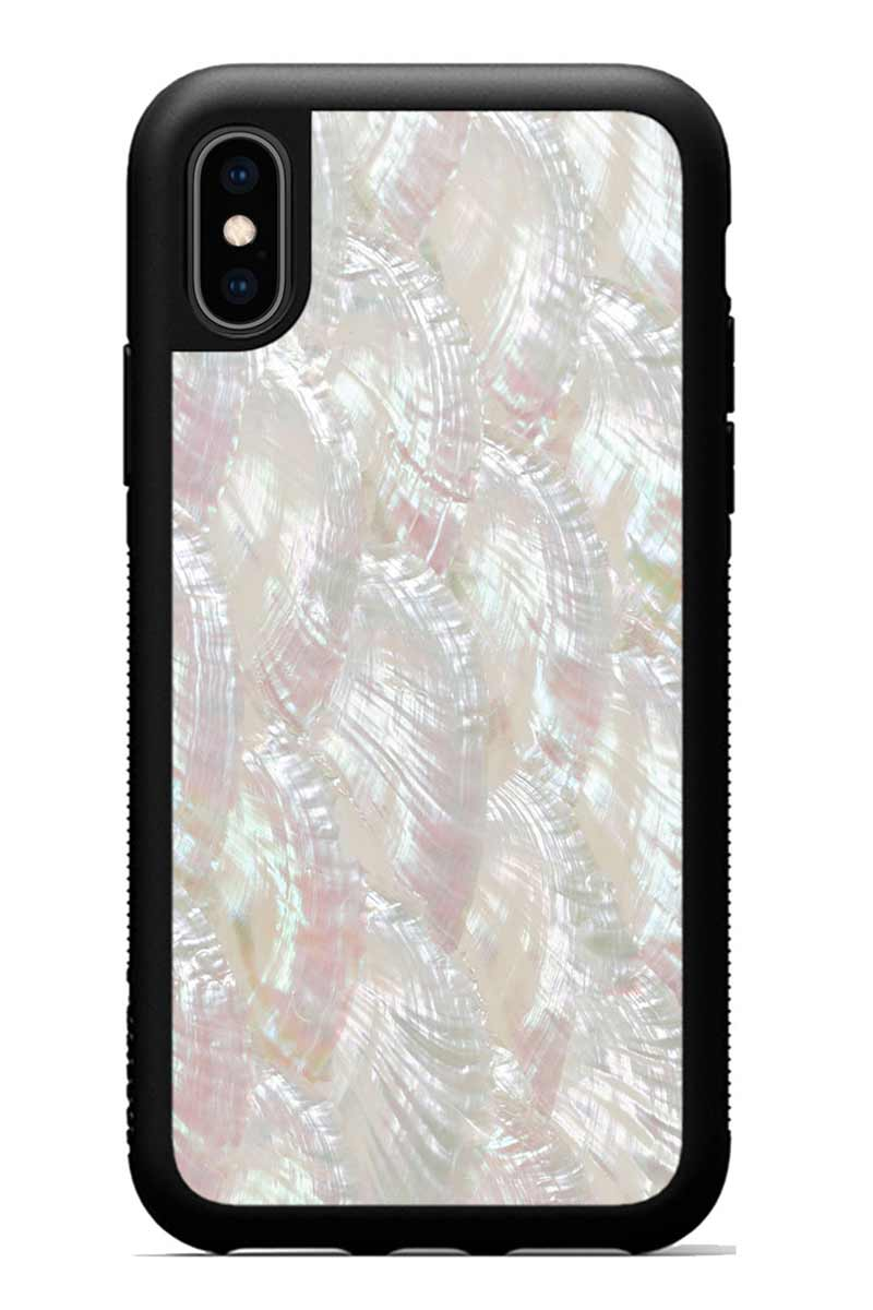 iPhone Xs - Scallop - Black Traveler Protective Seashell Case