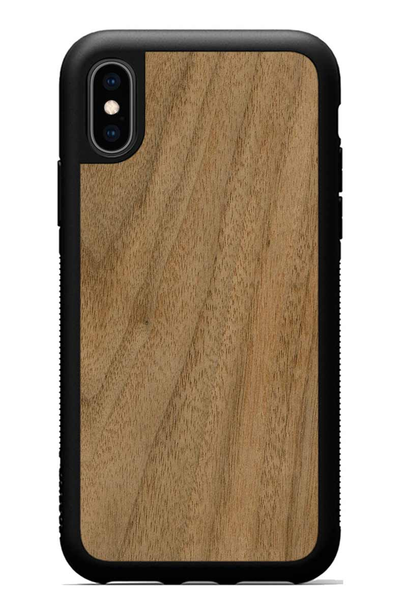 iPhone Xs - Walnut - Black Traveler Protective Wood Case