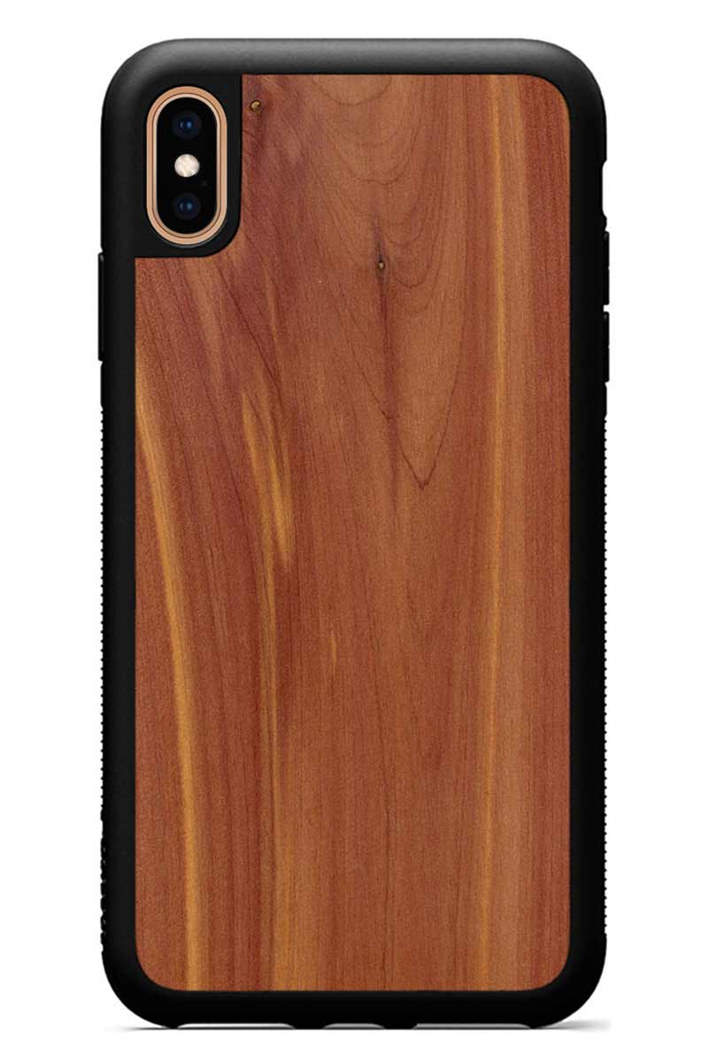 iPhone Xs Max - Eastern Red Cedar - Black Traveler Protective Wood Case