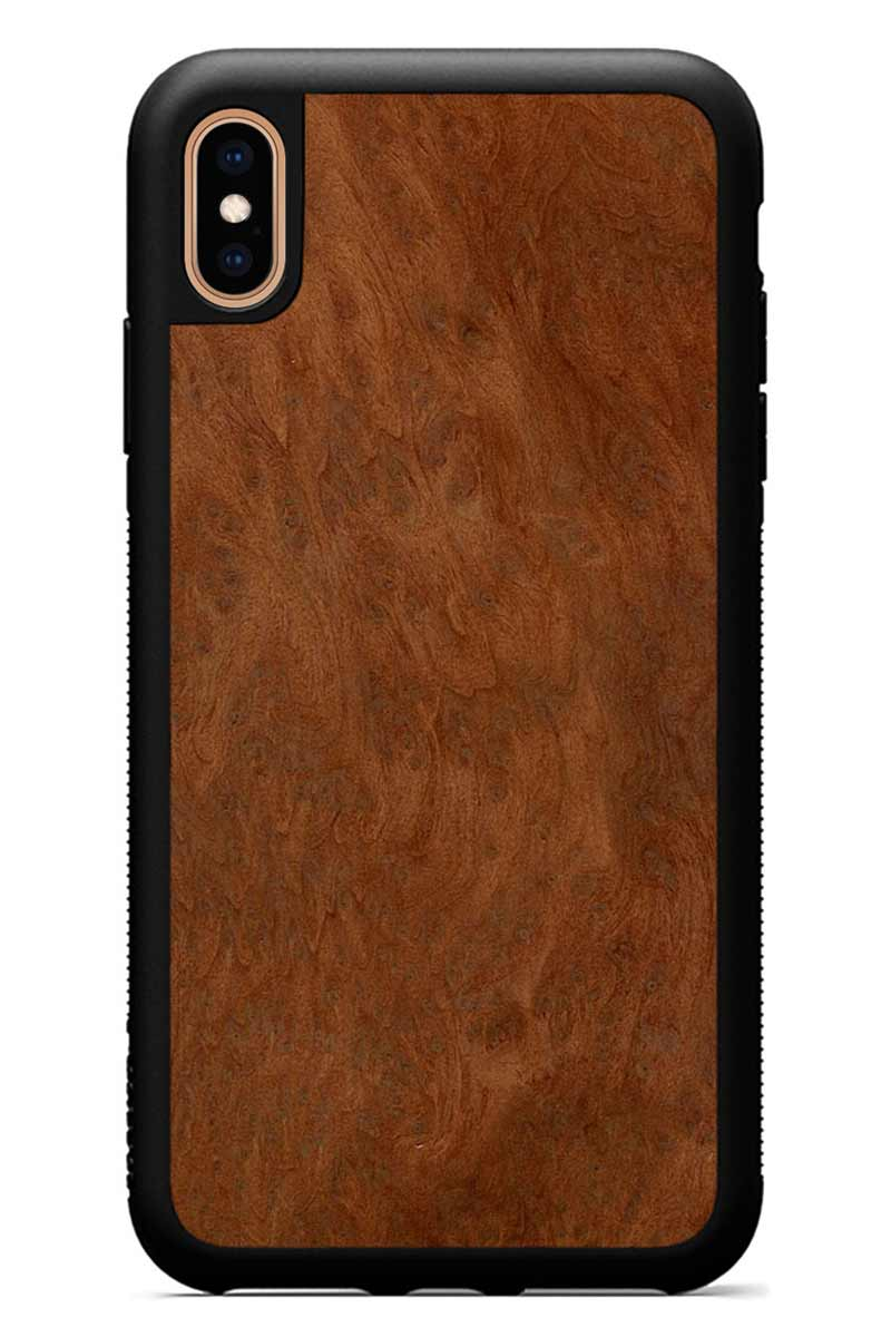 iPhone Xs Max - Redwood Burl - Black Traveler Protective Wood Case