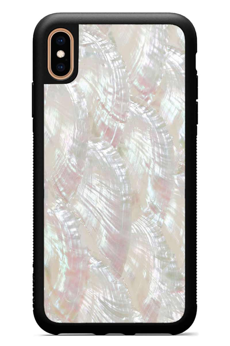 iPhone Xs Max - Scallop - Black Traveler Protective Seashell Case