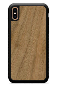 iPhone Xs Max - Walnut - Black Traveler Protective Wood Case