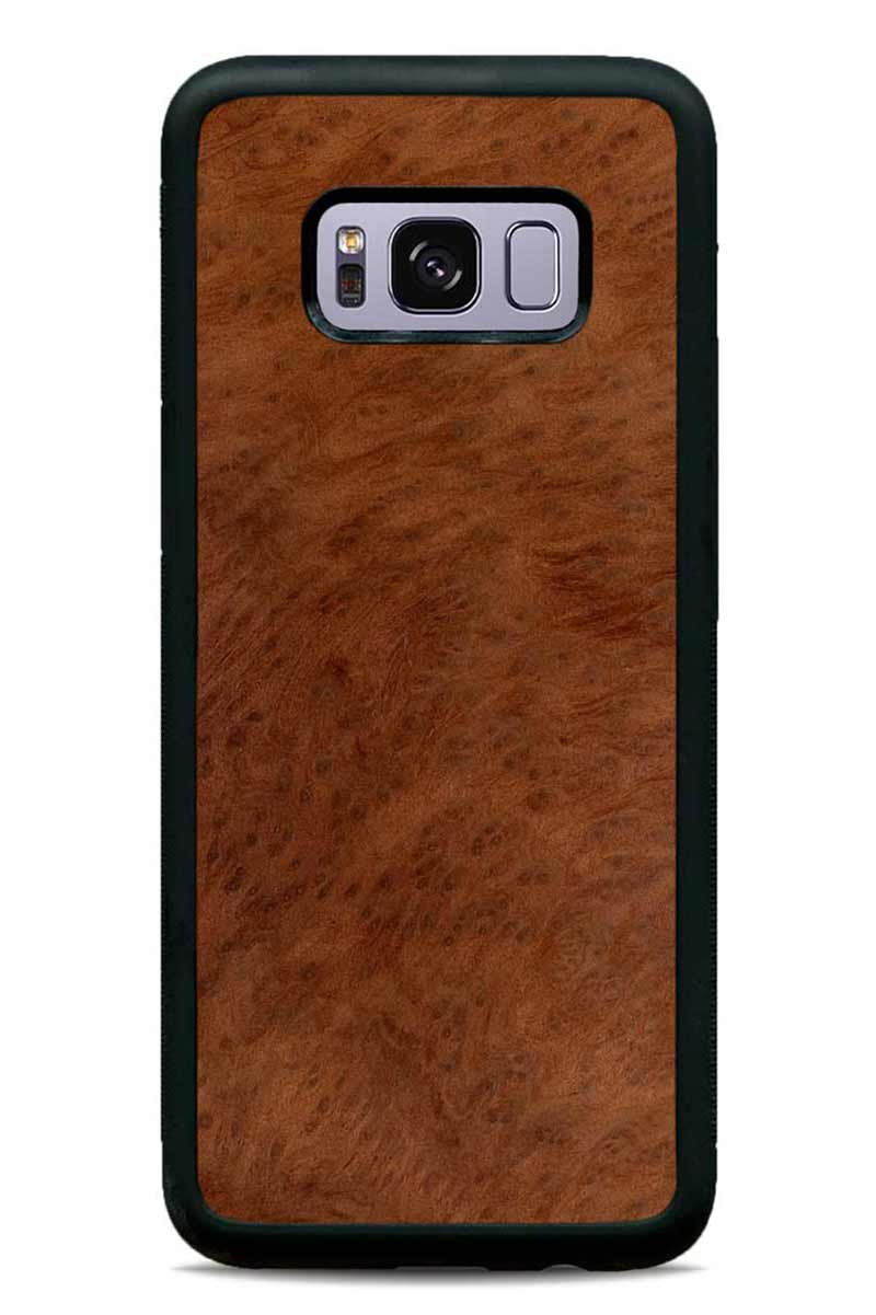 Galaxy S8 - Redwood Burl - Black Traveler Protective Wood Case
