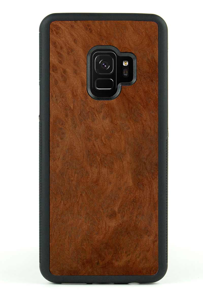 Galaxy S9 - Redwood Burl - Black Traveler Protective Wood Case