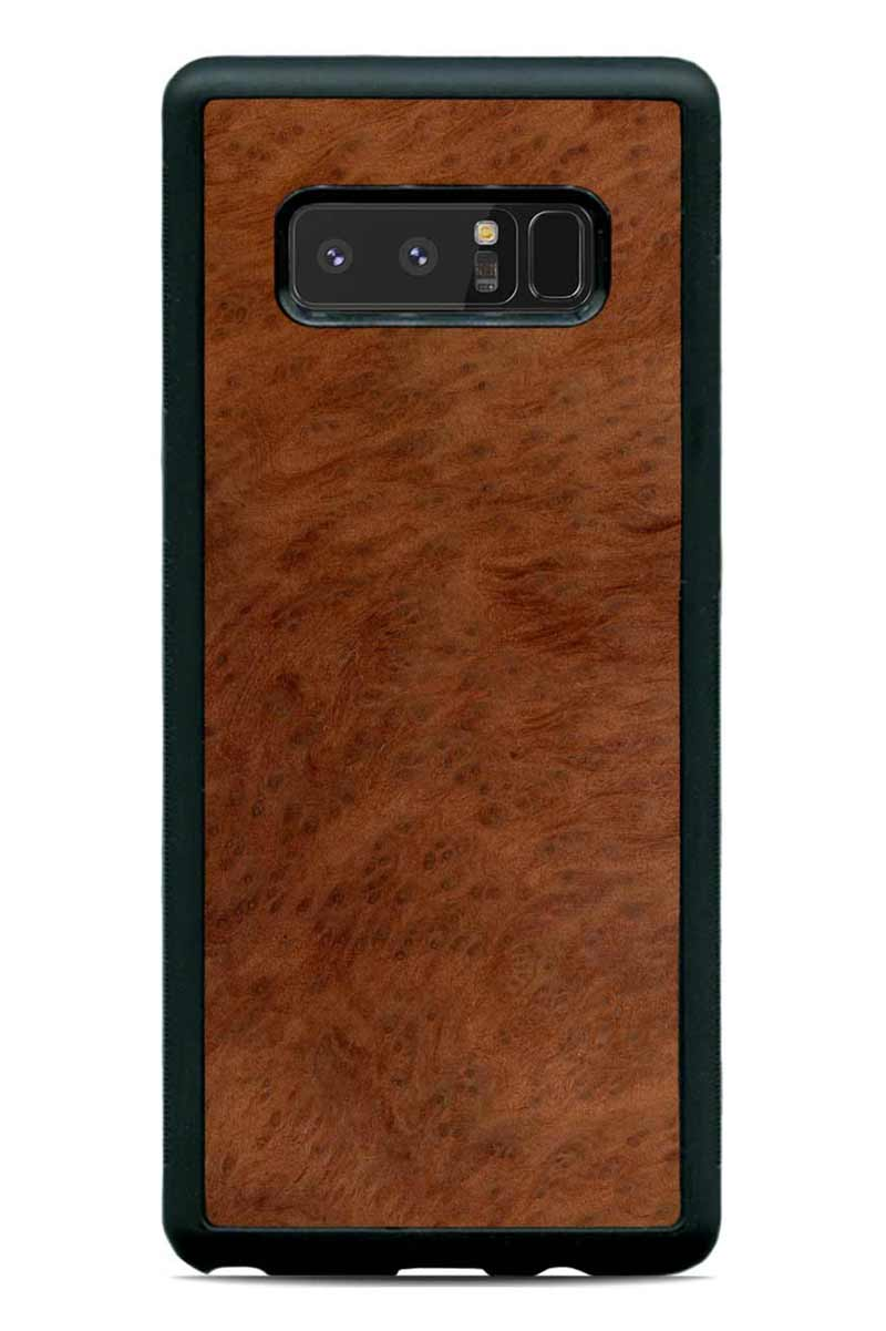Galaxy Note 8 - Redwood Burl - Black Traveler Protective Wood Case