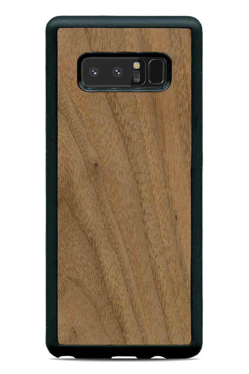 Galaxy Note 8 - Walnut - Black Traveler Protective Wood Case