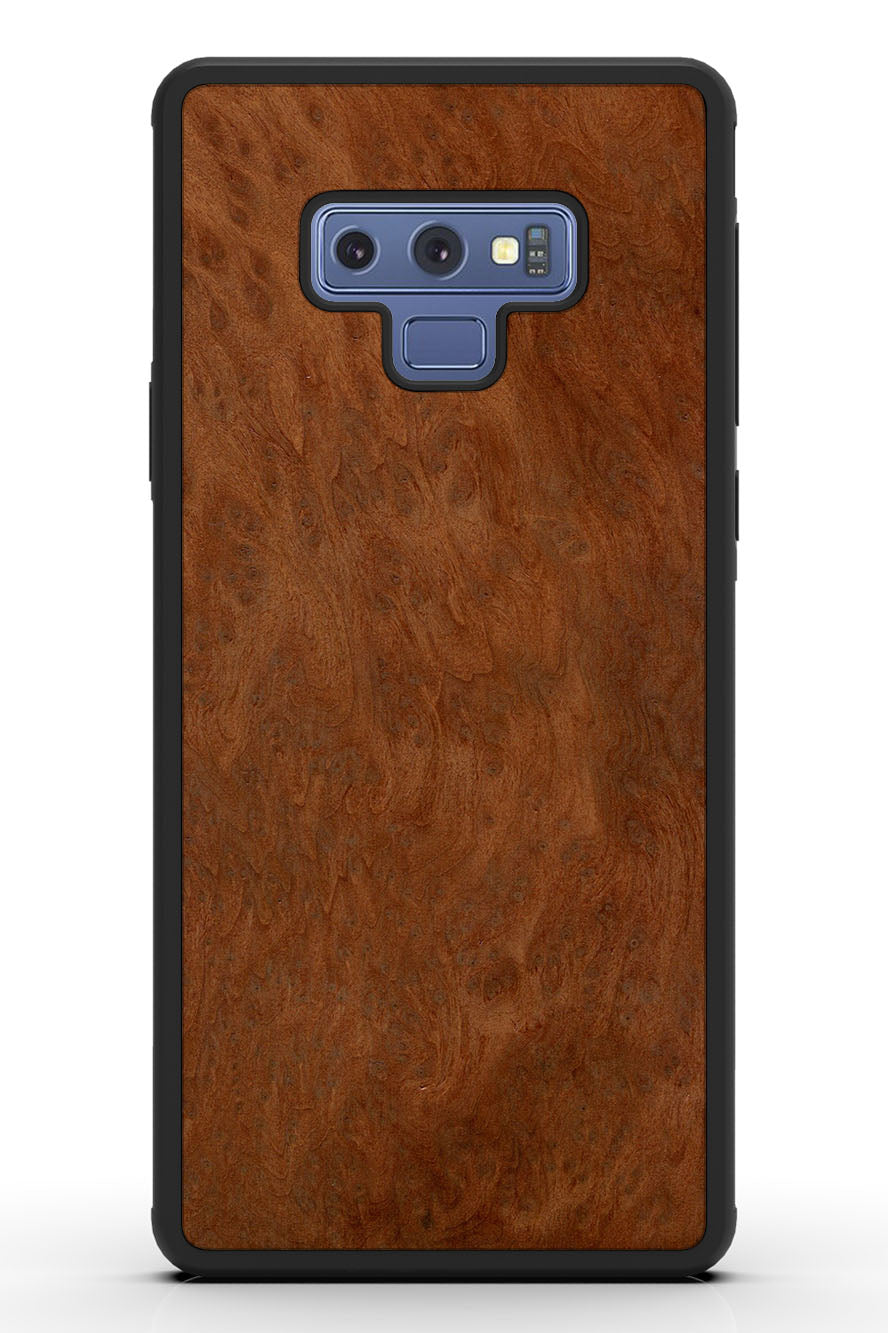 Galaxy Note 9 - Redwood Burl - Black Traveler Protective Wood Case
