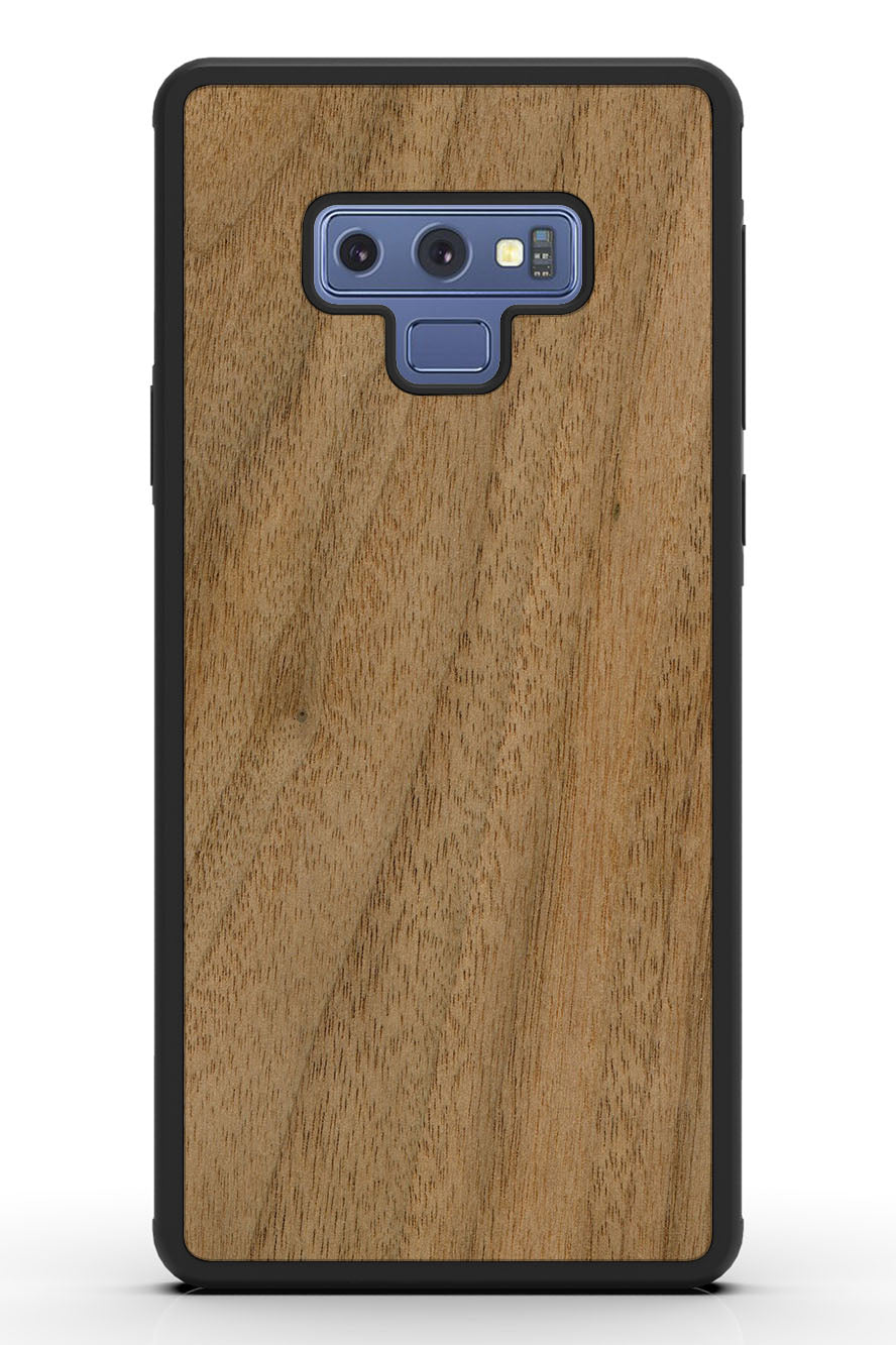 Galaxy Note 9 - Walnut - Black Traveler Protective Wood Case