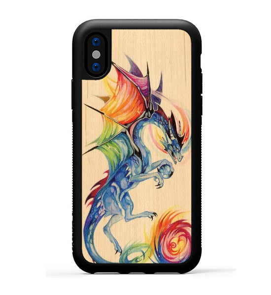 Rainbow Dragon - iPhone X Phone Case