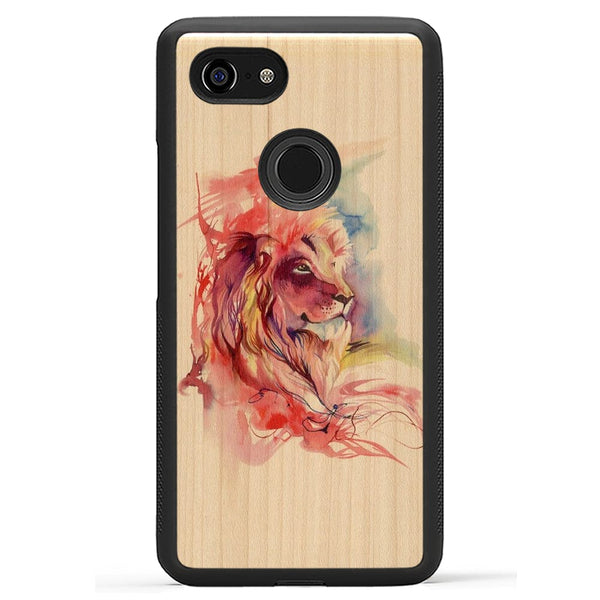 Lion Splash Print - Wood Phone Case by Carved