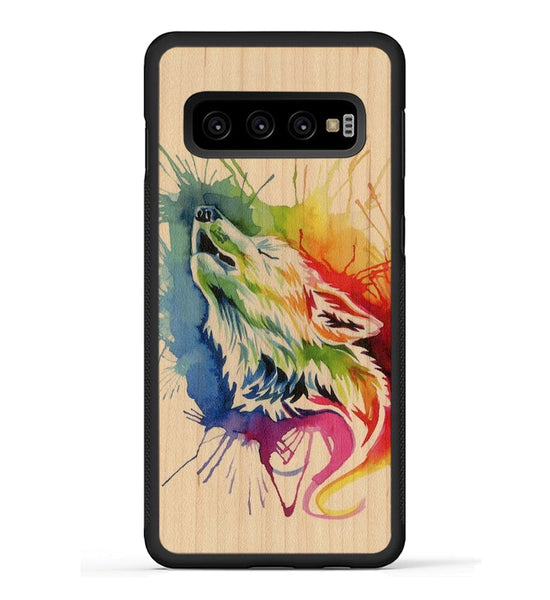 Rainbow Wolf - Galaxy S10 Phone Case