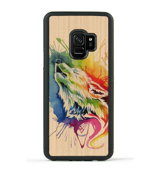 Rainbow Wolf - Galaxy S9 Phone Case