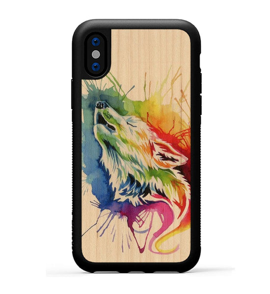 Rainbow Wolf - iPhone X Phone Case