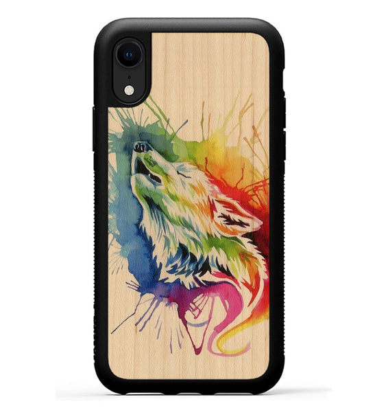 Rainbow Wolf - iPhone Xr Phone Case