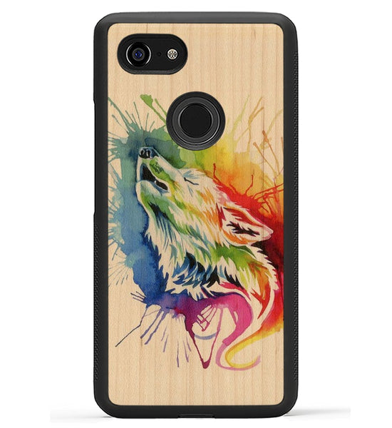 Rainbow Wolf - Pixel 3 XL Phone Case