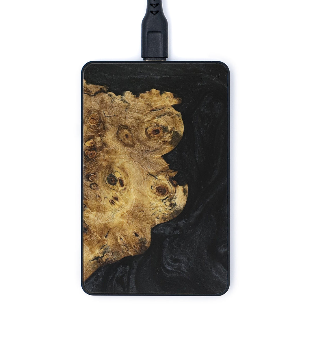 Thin Wood+Resin Wireless Charger - Anibal (Black, 360042)
