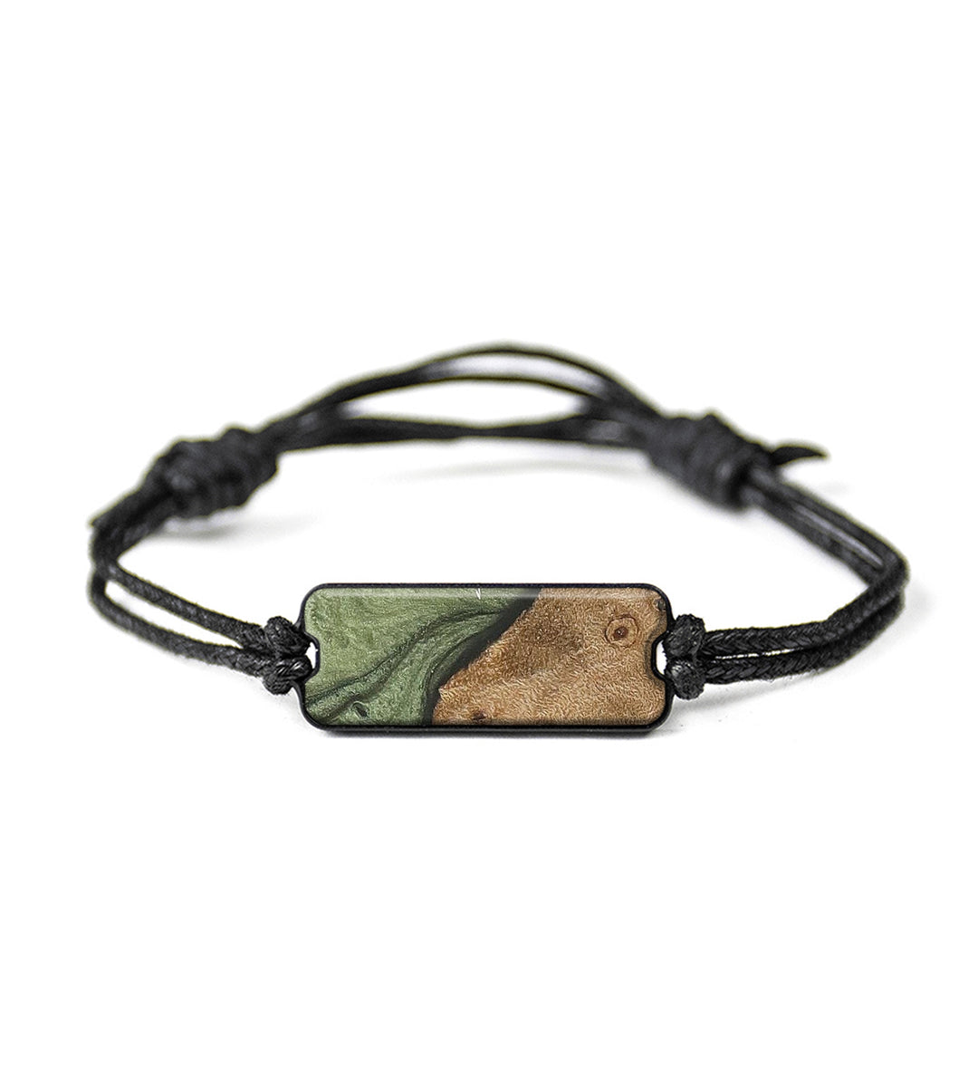 Classic Wood+Resin Bracelet - Annis (Dark Green, 358345)