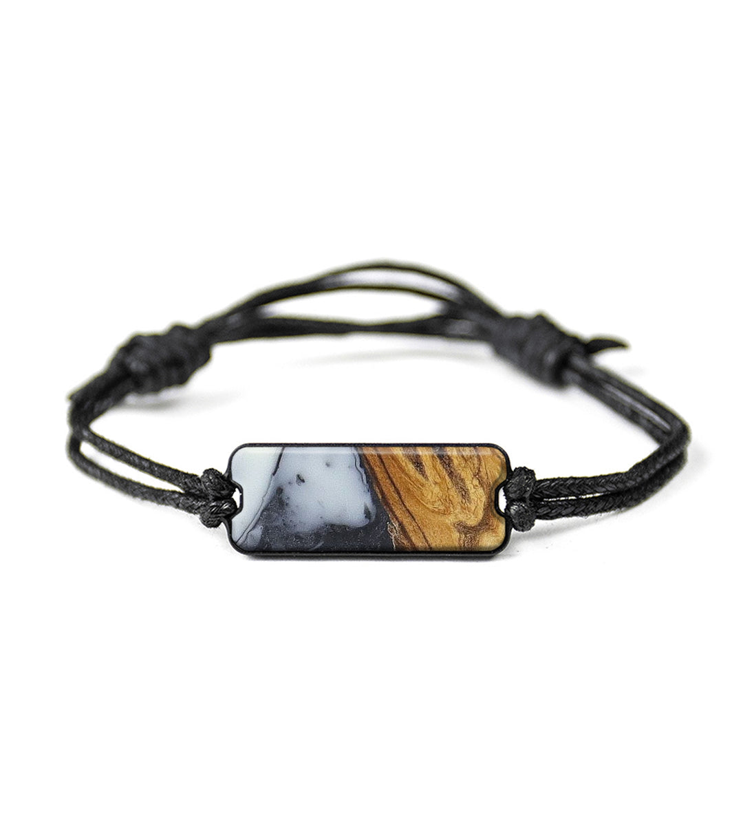 Classic Wood+Resin Bracelet - Jeniece (Black & White, 393699)