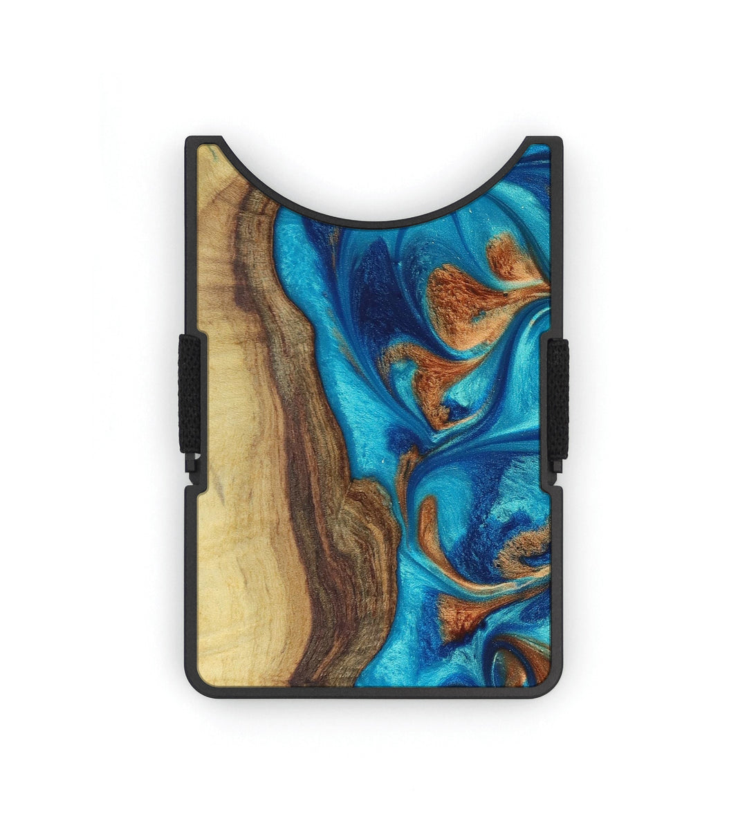 Alloy Wood+Resin Wallet - Warden (Teal & Gold, 394903)