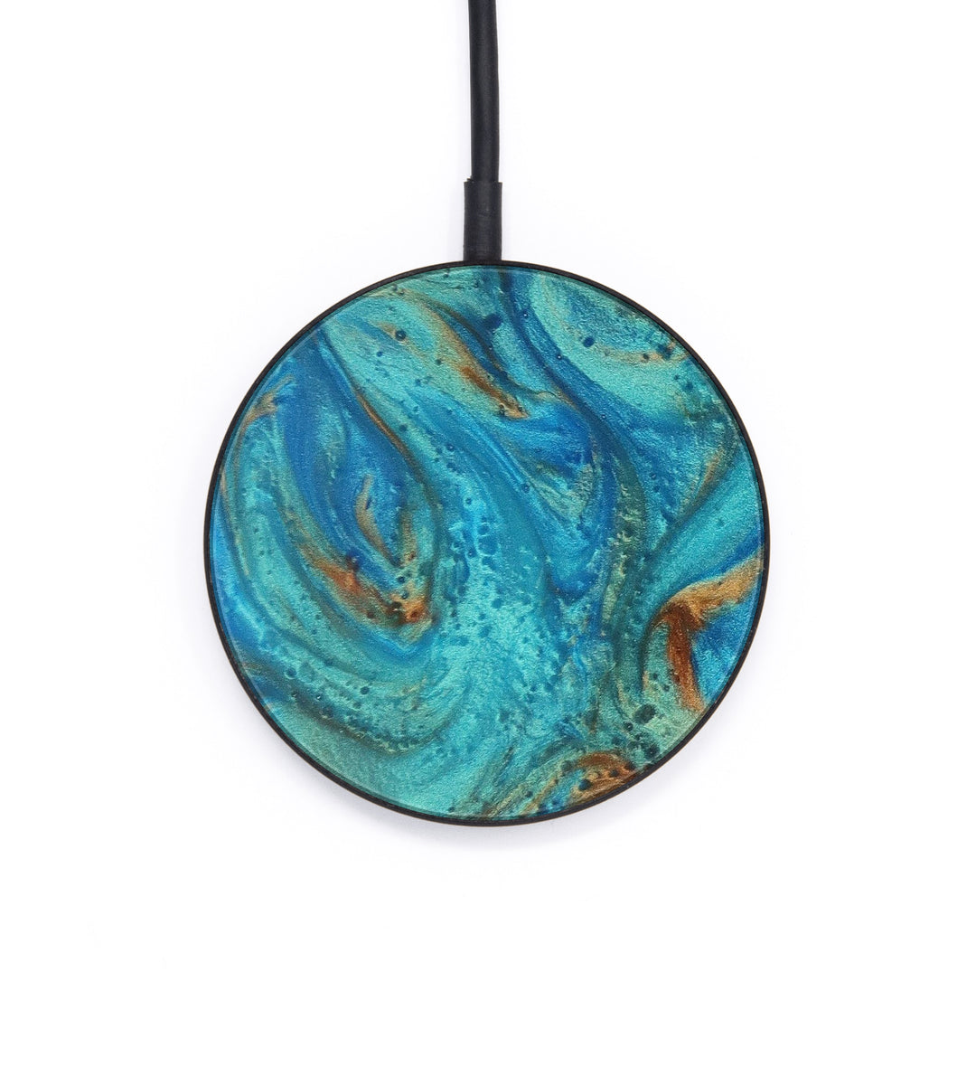 Circle ResinArt Wireless Charger - Arnie (Teal & Gold, 393513)