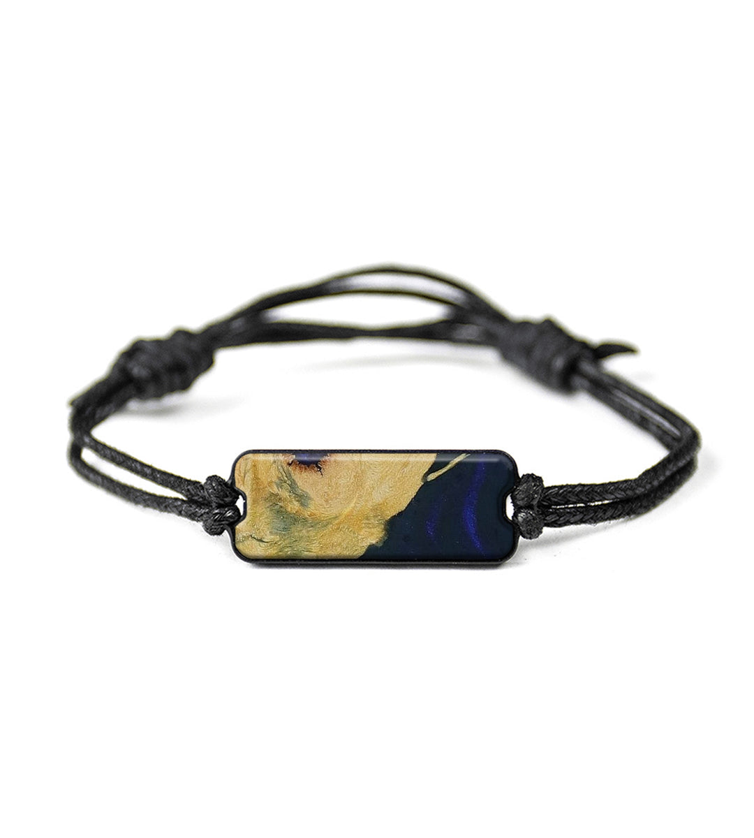 Classic Wood+Resin Bracelet - Ineke (Dark Blue, 417018)