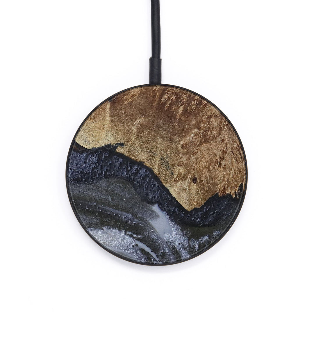 Circle Wood+Resin Wireless Charger - Jacintha (Gunmetal, 407140)
