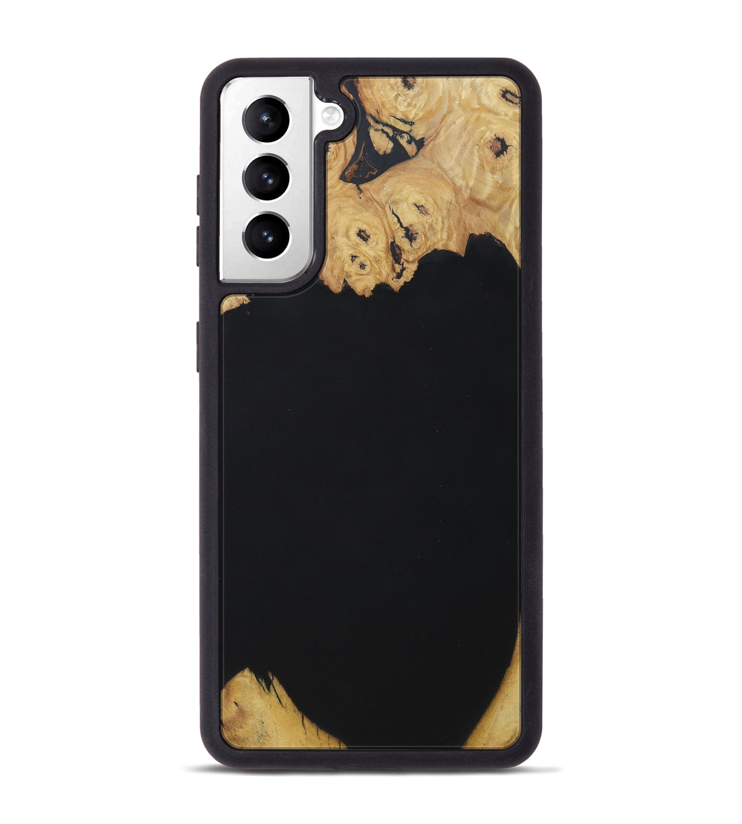Galaxy S21 Wood+Resin Phone Case - Fernandina (Pure Black, 427606)