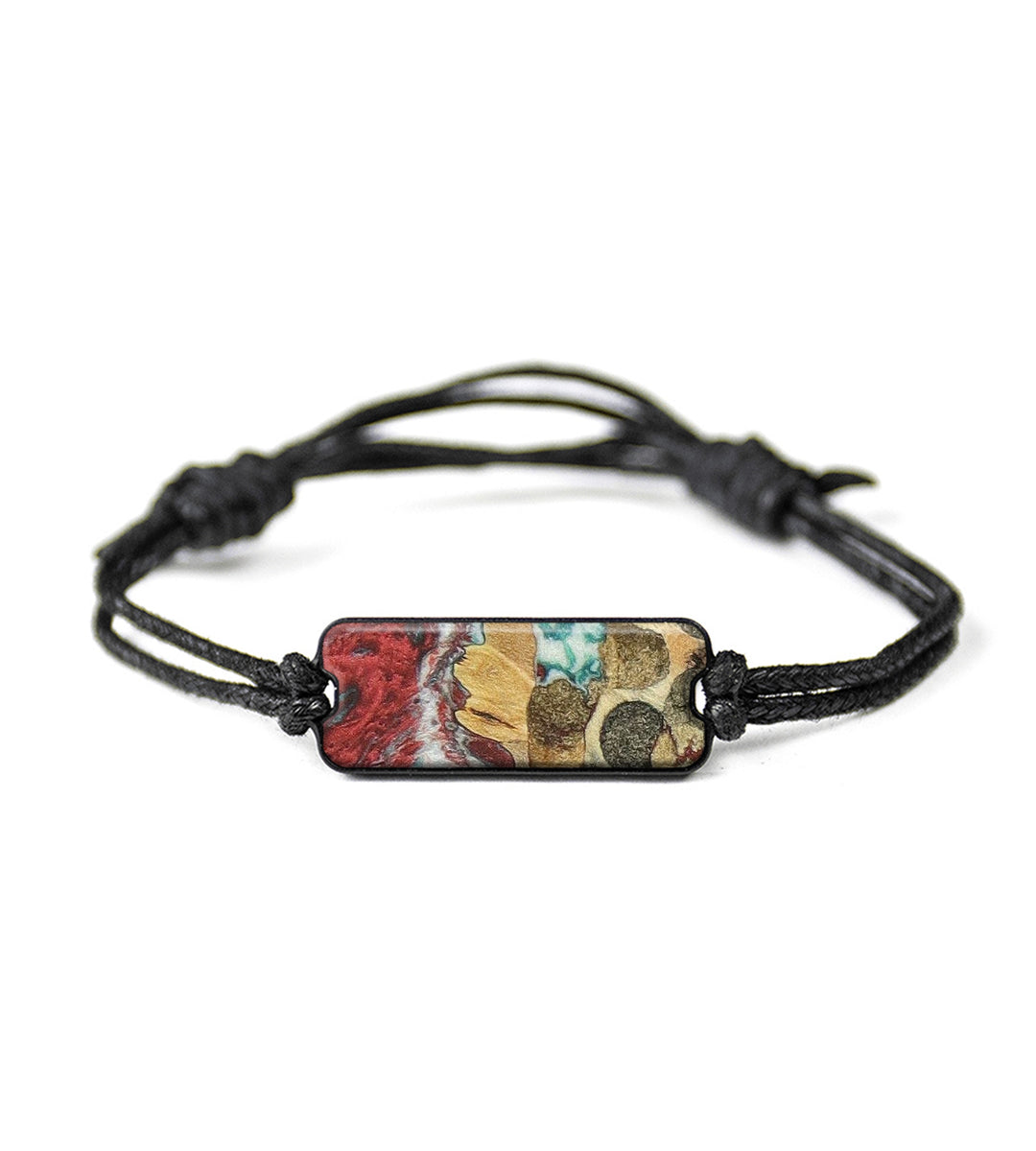 Classic Wood+Resin Bracelet - Wiele (Blue & Red, 358350)