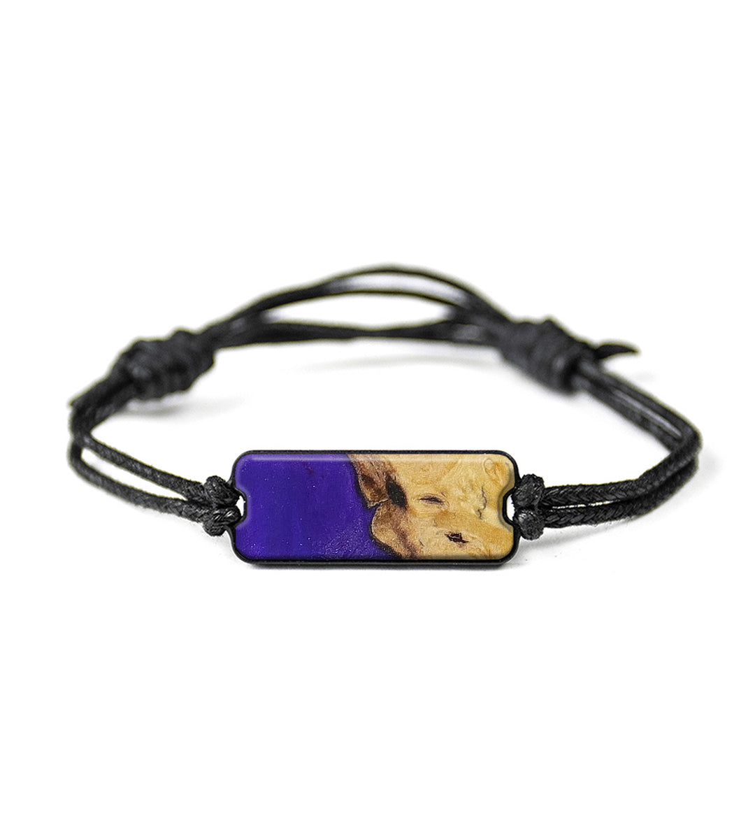 Classic Wood+Resin Bracelet - Steffane (Purple, 393434)